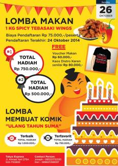 lomba-makan-spicy-tebasaki-wings-tokyo-express